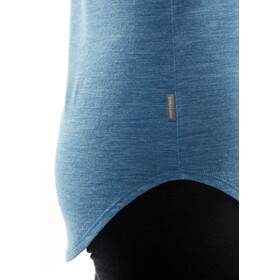 Icebreaker Solace Top sin Mangas Mujer, thunder heather